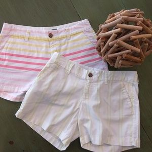 Set of 2 pairs of Old Navy striped shorts